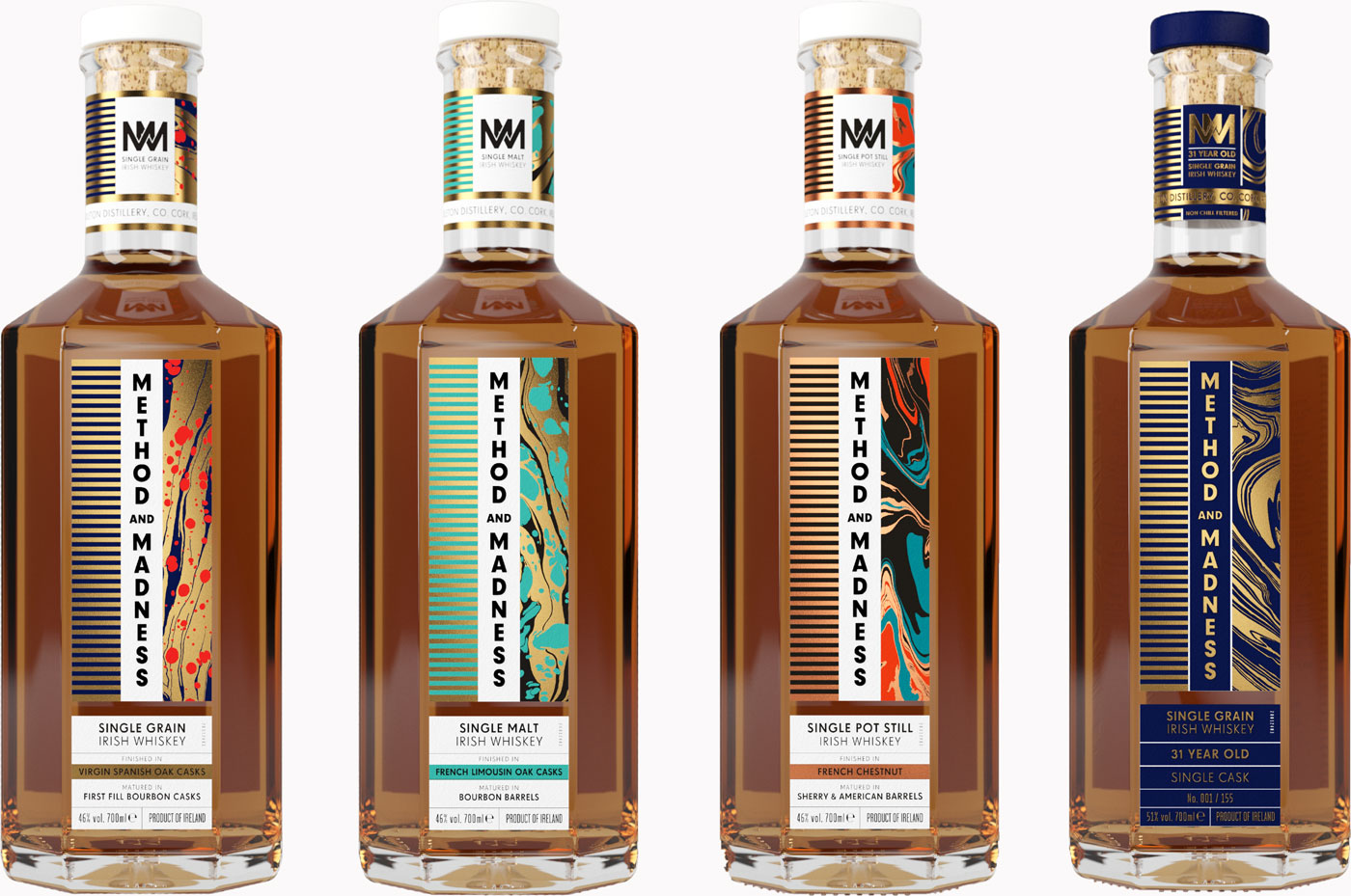 Method And Madness Whiskey bottles